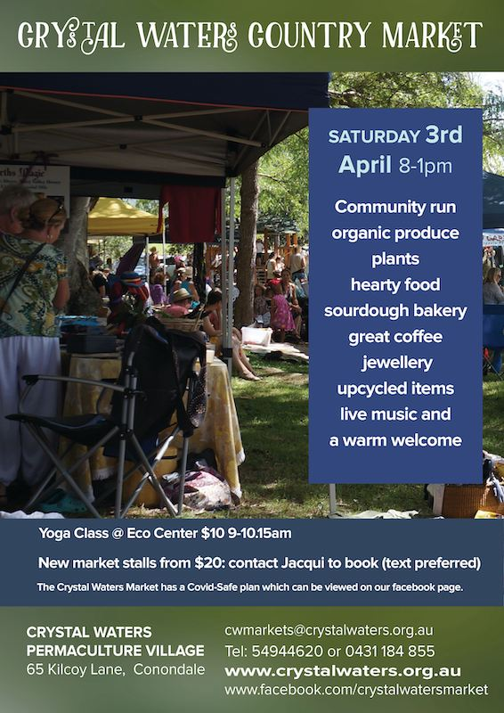 Crystal Waters April Market